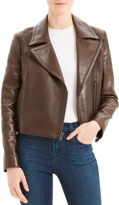 Theory Slim Leather Moto Jacket