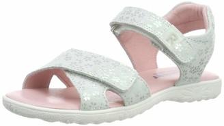 Richter Kinderschuhe Girls Sole Ankle Strap Sandals White (Panna 0400) 11 UK