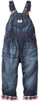 Osh Kosh Flannel-Lined Denim Overalls - Geode Wash