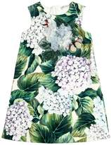 Dolce & Gabbana Hydrangea Print Cotton Interlock Dress
