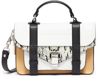 Proenza Schouler 'PS1 Tiny' colourblock snake print leather handbag
