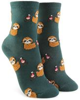 Forever 21 Sloth Print Crew Socks