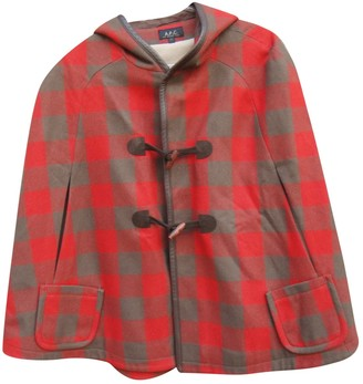 A.P.C. Red Wool Jackets