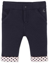 Petit Bateau Baby girls padded tube knit pants
