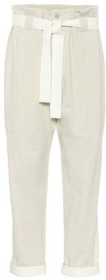 Brunello Cucinelli Stretch-cotton paperbag pants