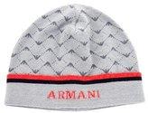 Armani Junior Boys' Logo Knit Beanie