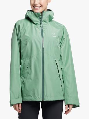 Haglöfs Skuta Women's Waterproof Jacket, Trail Green