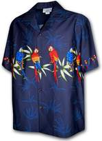 Pacific Legend Hawaiian Shirt for Men - w/ Parrot Stripe