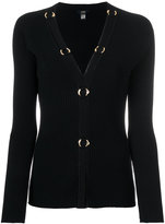Class Roberto Cavalli ribbed V-neck cardigan