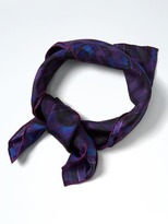 Banana Republic Madras Floral Silk Square Scarf