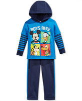 Nannette Baby Boys' 2-Pc. Boys Rule Mickey Mouse Hoodie & Pants Set