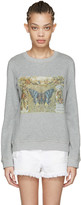 Valentino Grey Vintage Butterfly Pullover