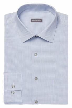 Van Heusen Men's Dress Shirt Regular Fit Stain Shield Stretch