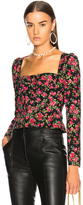 Dolce & Gabbana Long Sleeve Top in Black,Floral.