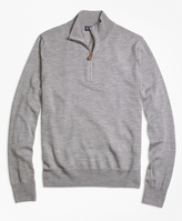 Brooks Brothers Saxxon Wool Half-Zip Sweater
