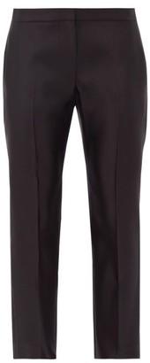 Alexander McQueen Cropped Silk Cigarette Trousers - Black
