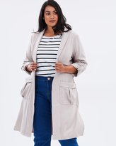 Trench Coat with Soft Pockets