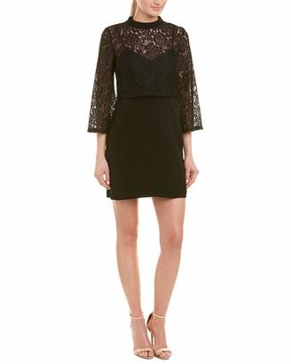 Ali & Jay Women's LACE 3/4 Sleeve Popover Illusion Short Dress