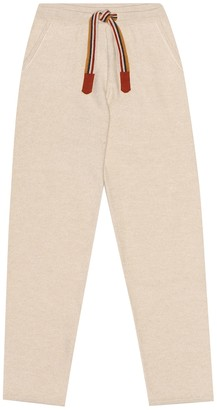 Loro Piana Kids Suitcase Stripes cashmere trackpants