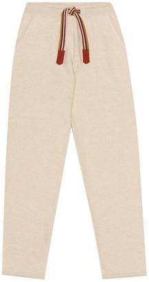 Loro Piana Kids Suitcase Stripes cashmere trackpants