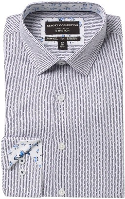 Report Collection Slim Fit Striped Dress Shirt
