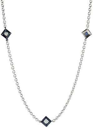 MARIANI Blue Sapphire and Diamond Necklace
