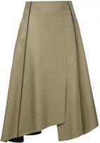 TOMORROWLAND flared asymmetric hem skirt