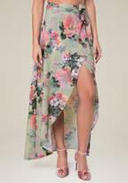 Bebe Print Maxi Skirt