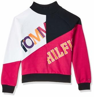 Tommy Hilfiger Girl's Color Text Block Sweatshirt