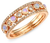 Astley Clarke 14K Rose Gold, Diamond & Opal Eternity Ring