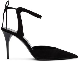Saint Laurent Black Lexi Slingback 90 Heels