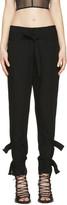 Ann Demeulemeester Black Straps Trousers