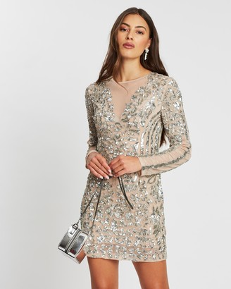 Missguided Embellished Round Neck Mini Dress