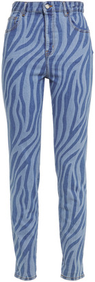 Just Cavalli Zebra-print High-rise Slim-leg Jeans