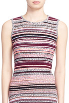 Tanya Taylor &Ash& Stripe Sleeveless Ribbed Top
