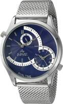 August Steiner Men's AS8168SSBU Analog Display Quartz Silver Watch