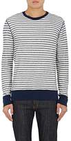 Barneys New York MEN'S STRIPED COTTON LONG-SLEEVE T-SHIRT