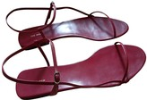 The Row Bare Red Leather Sandals