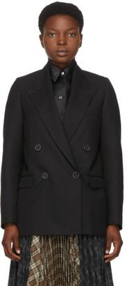 Acne Studios Black Double-Breasted Blazer
