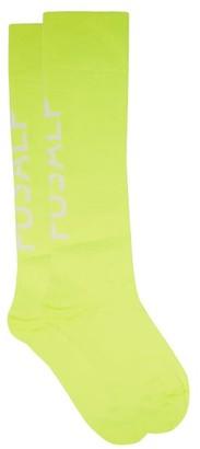 Fusalp Pop Logo-jacquard Technical-jersey Socks - Yellow
