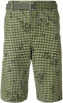 Sacai grid print cargo shorts