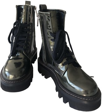 Brunello Cucinelli Khaki Patent leather Boots