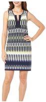 London Times T1536M Split Jewel Neck Sheath Dress