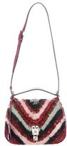 Valentino 2017 Feather Joylock Flap Messenger Bag w/ Tags