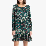 Suncoo Come Printed Short Dress with Long Sleeves