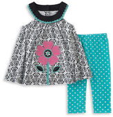 Kids Headquarters Baby Girls Baby Girls Two-Piece Top and Capri Leggings Set