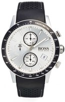 BOSS 'Rafale' Chronograph Leather Strap Watch, 44Mm