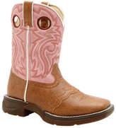 """Durango Infant/Toddler Girls' Boot BT287 8"""" Li'l Flirt - Tan/Pink Boots"""