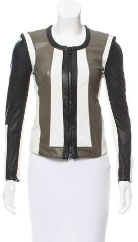 Helmut Lang Leather Accented Jacket