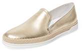 Tod's Metallic Leather Slip-On Sneaker